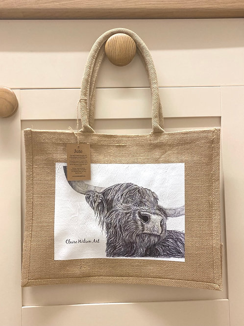 'SNOOTY COO' CLASSIC JUTE BAG