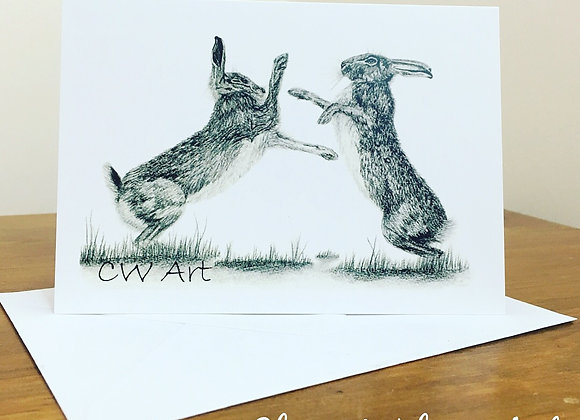 'HARE WE GO AGAIN' BLANK GREETINGS CARDS