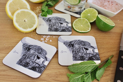 'SNOOTY COO' COASTER