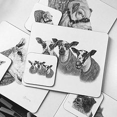 Claire Wilson Art 'Placemats & Coasters'