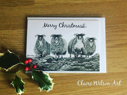 'SCOTCH ON THE ROCKS' BLANK CHRISTMAS CARDS