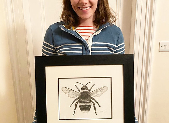 'THE BEES KNEES' FRAMED ORIGINAL DRAWING
