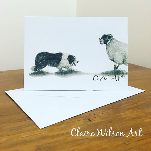 'THE STAND OFF' BLANK GREETINGS CARDS