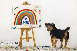 Claire Wilson Art 'Alfie Thanking the NHS'