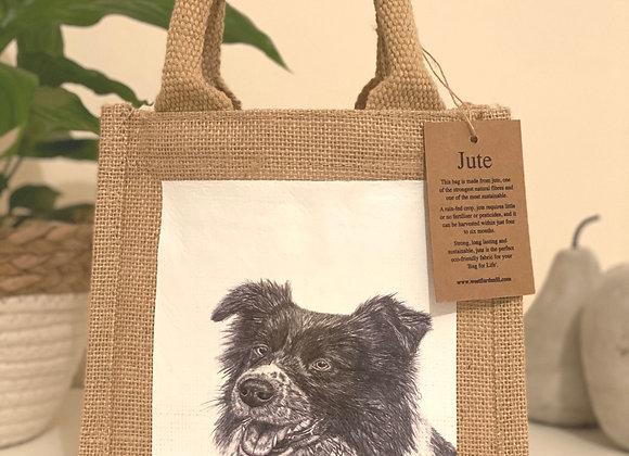 'COLLIE' PETITE JUTE BAG