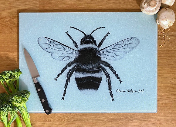 'THE BEES KNEES' GLASS WORKTOP SAVER