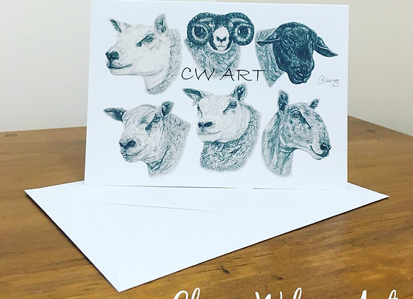 'DIFFERENT BREEDS FOR DIFFERENT NEEDS' BLANK GREETINGS CARDS
