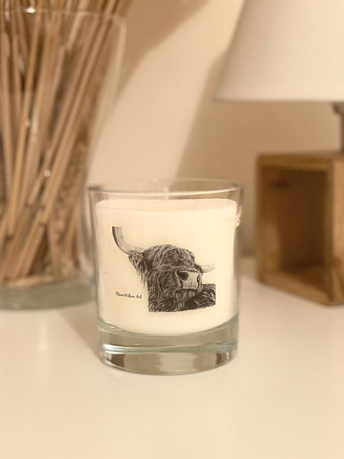 'SNOOTY COO' ROUND CANDLE JAR IN ANGEL WISHES