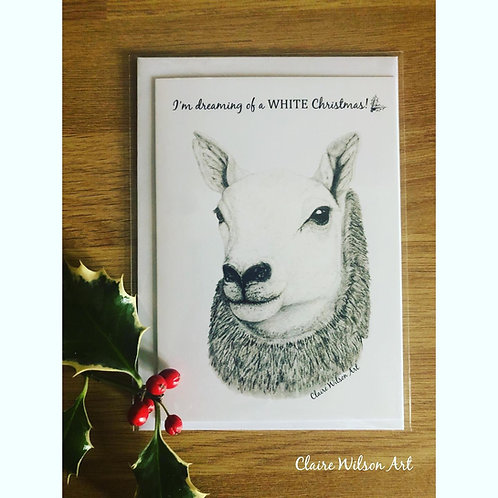 'DREAMING OF A WHITE CHRISTMAS' BLANK CHRISTMAS CARDS