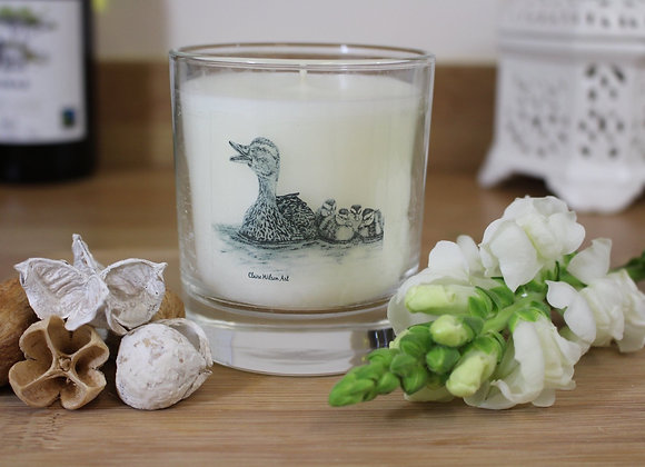 'JUST KEEP SWIMMING' ROUND CANDLE JAR IN ANGEL WISHES
