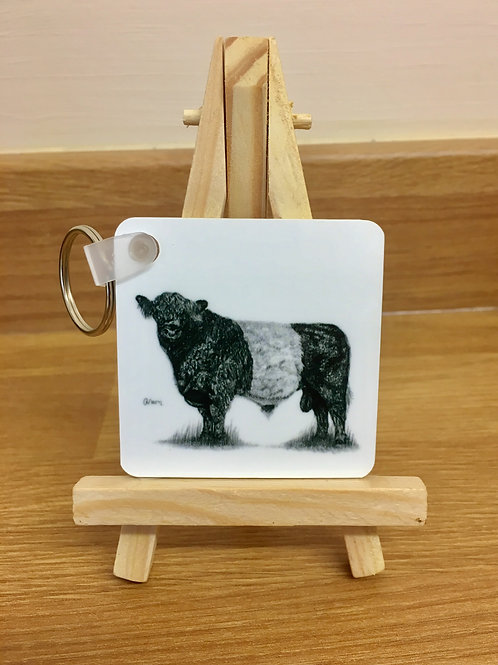 'BELTED GALLOWAY' KEYRING