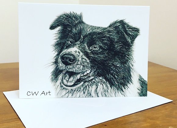 'COLLIE' BLANK GREETINGS CARDS