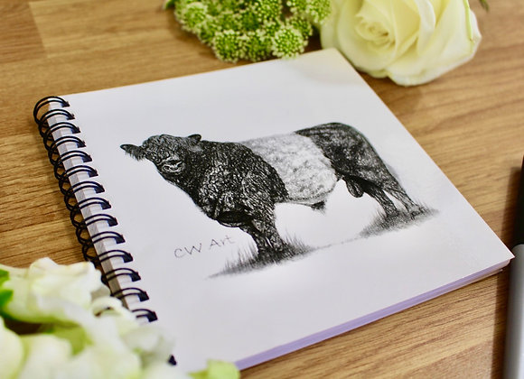 'BELTED GALLOWAY' NOTEBOOK