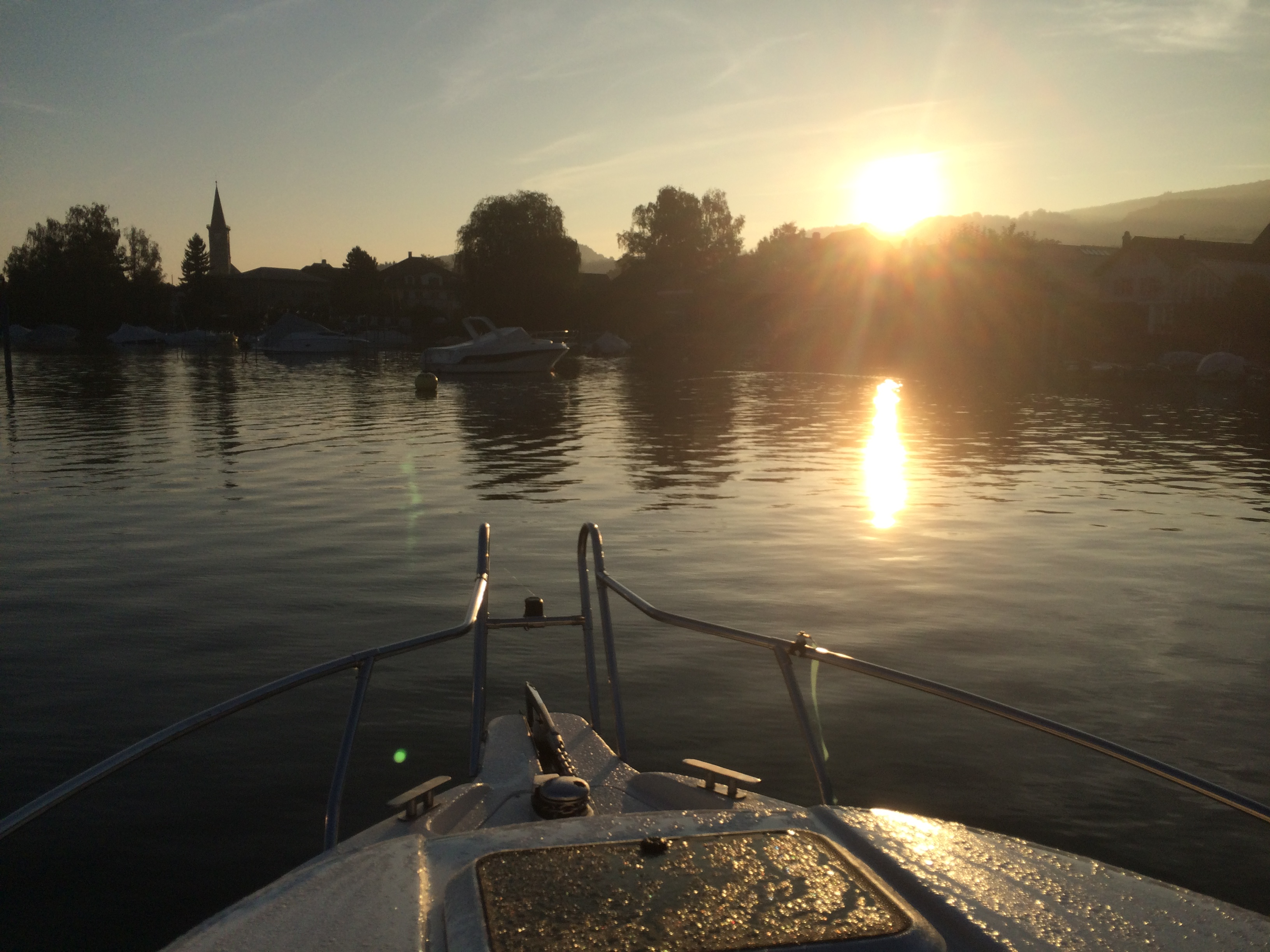 Sonnenaufgang über Steckborn