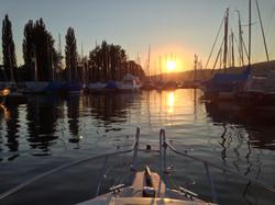 Sonnenuntergang Hafen Steckborn