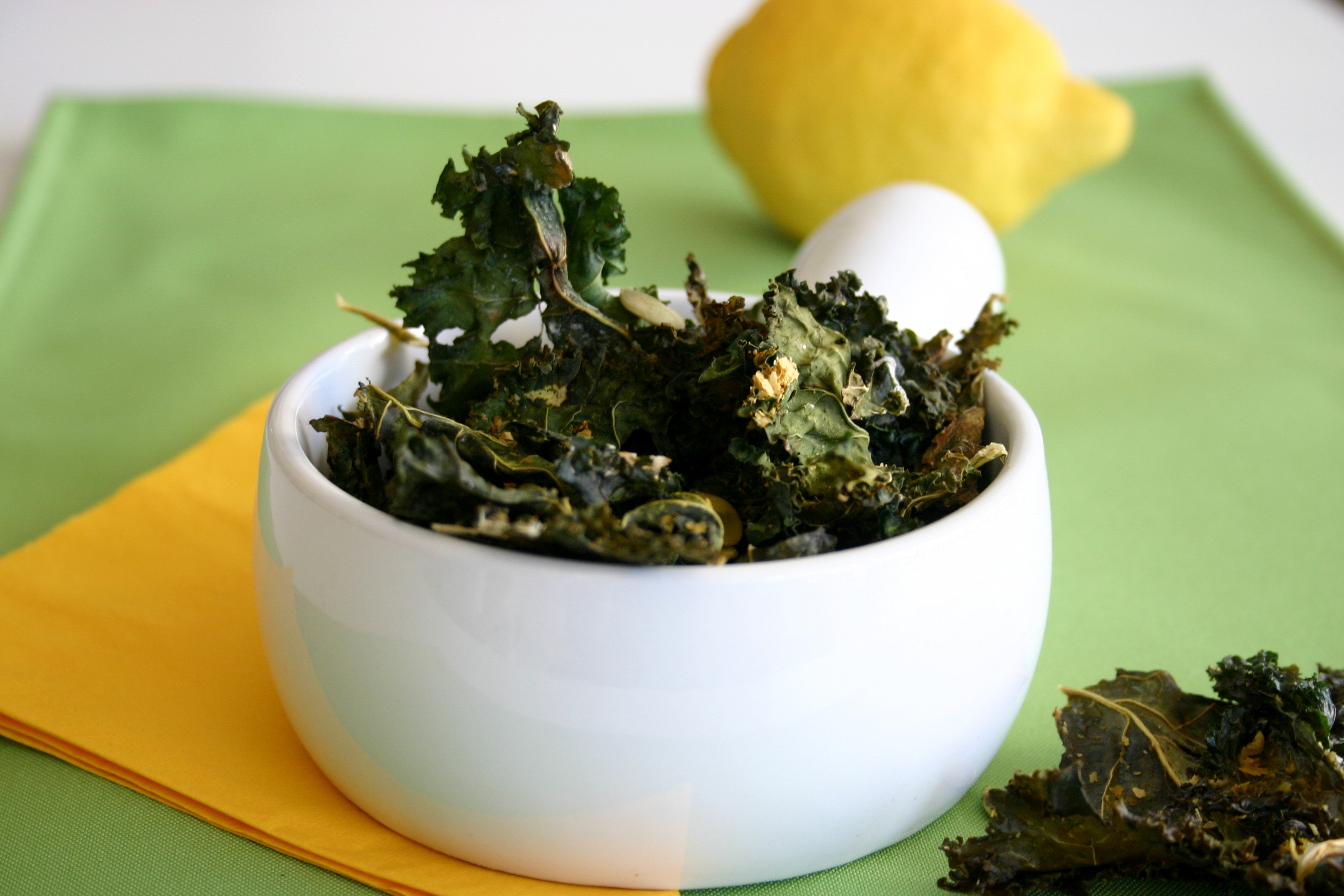 Pumpkin Seedy-Cheezy Kale Chips