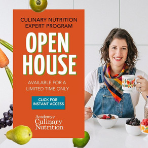 You As a Culinary Nutrition Expert!