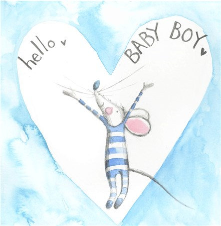 Hello Baby Boy Card