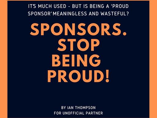 Sponsors: Stop Being Proud!