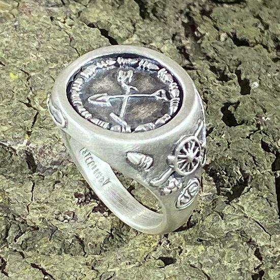 Sterling Silver Ladies' Metal Detector  / Treasure Hunting Ring
