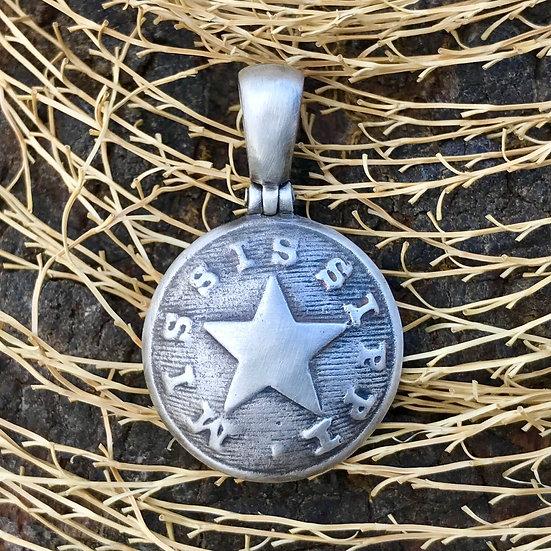 .925 Silver Confederate Local MISSISSIPPI (MP5A) Button Civil War Relic Pendant