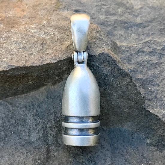 Sterling Silver Civil War Confederate Gardner Bullet Relic Pendant