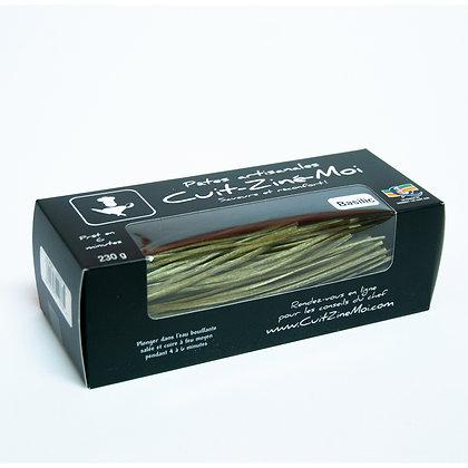 Pâtes Artisanales \ Linguini aux Basilic (230g)