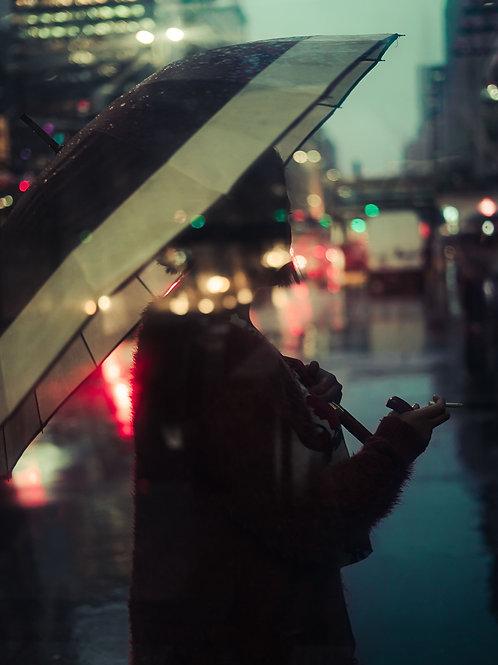 Fotografia Cigarro na chuva