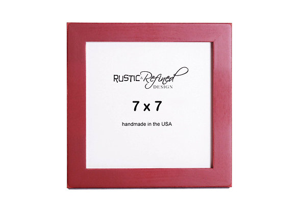"""7x7 1"""" Gallery Picture Frame - Barn Red"""