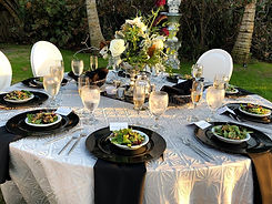 Place settings wedding catering St. Petersburg