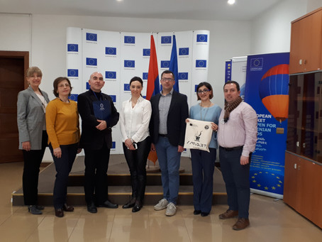 ERASMUS+ SMART PROJECT PARTNERS VISITED THE DELEGATION OF THE EUROPEAN UNION TO ARMENIA