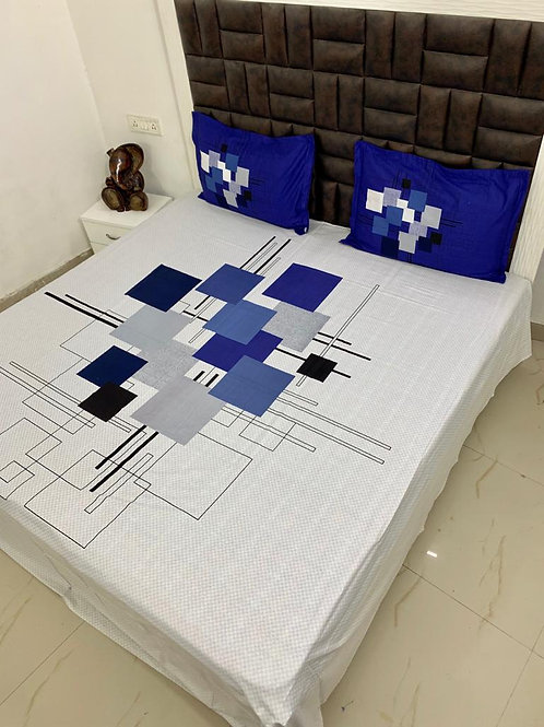 Panel Print King Size Bedsheet Set
