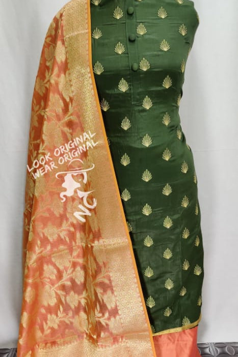 Exclusive Suit  For Women (100% Cotton satin silk  )