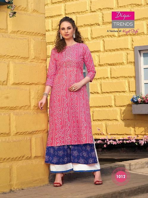 Cotton Kashmiri  kurti