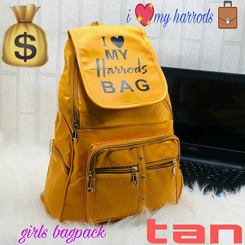 Imported Pu Leather Girls College Back-Pack