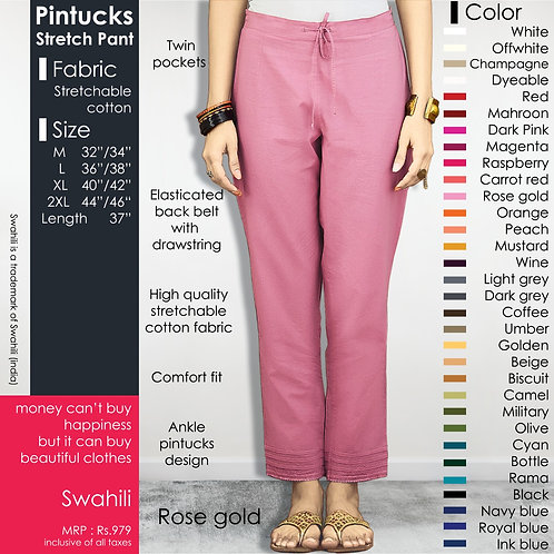 Pintucks Stretch Pant