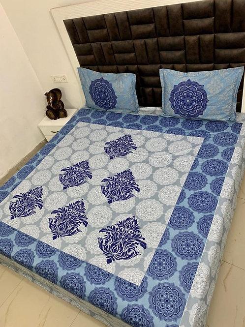 Panel Print King Size Bedsheet Set