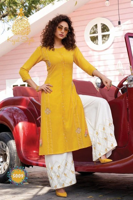 Kurti with plazzo,pant ,skirt &sharara