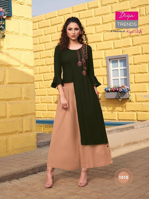 FLORENCE-Pair of Kurti With Sharara, Skirt & Plazzo