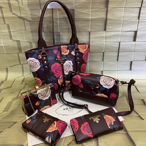 Women's Hand bags collection-Prada Milano-5 pc Combo