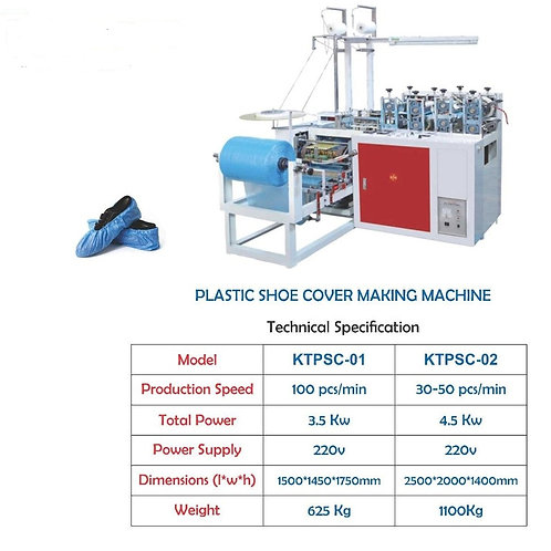 Plastic shoe cover making Machine