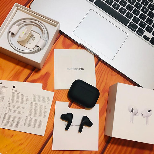 AirPods Pro in mate black 1:1 (With Wireless pad)