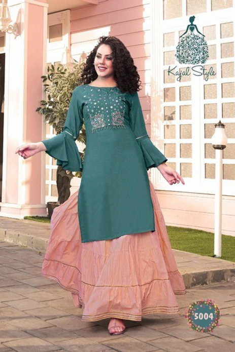 Kurti with plazzo,pant ,skirt & sharara