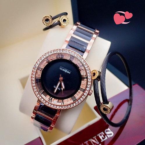 Women's Watch A custom American diamond