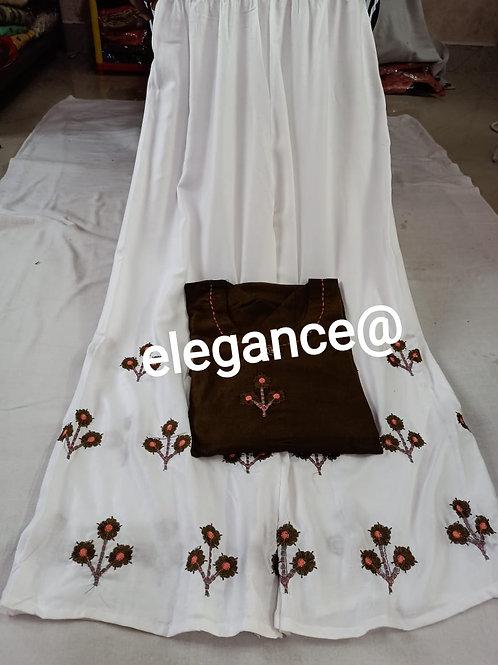 Reyon cotton top & plazo