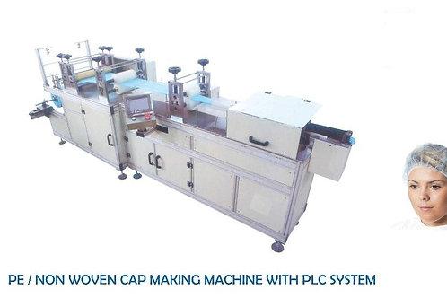 PE/Non Woven Cap making machine with PLC