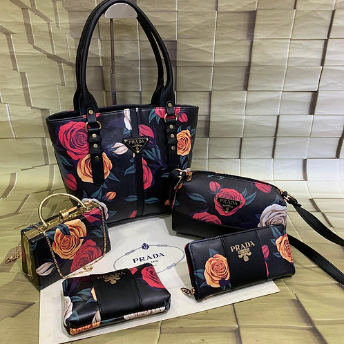 Women's Hand bags collection-Prada Milano-5 pc Combo