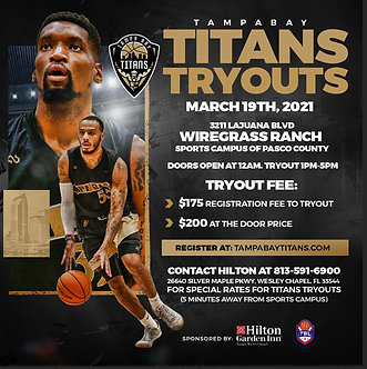 Tampa Bay Titans Spring Tryout