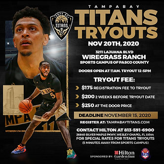 Tampa Bay Titans Fall Tryout