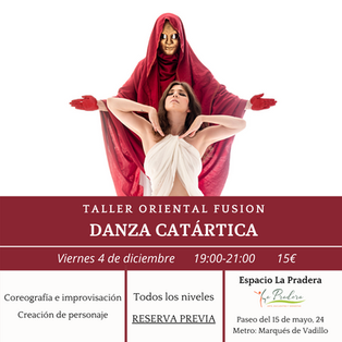 Danza de las Erinias. Taller de oriental fusion en Madrid